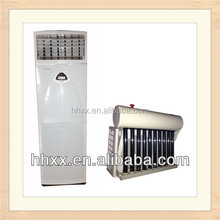 Hybrid vacuum tube solar powered system air conditioner with energy saving
