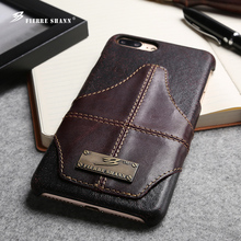 best selling new product genuine leather phone case for iphone 7 plus