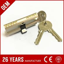 DOMUS brass double side key types of door lock keys with nickel plate
