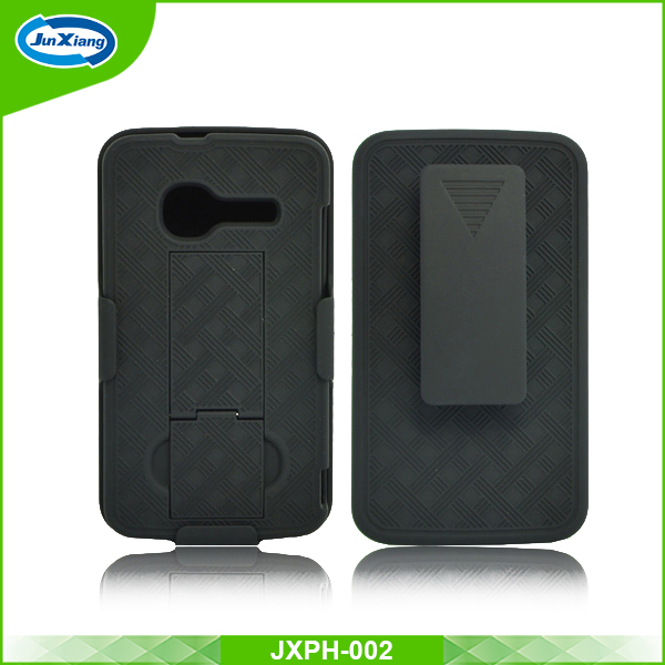 Factory Wholesale shell holster mobile phone case for alcatel one touch 4010