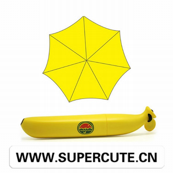 Christmas hot sale yellow color Hard plastic vegetable led umbrella