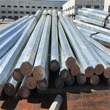 hot dip galvanized electric metal steel pole factory 69KV 30ft and 35ft