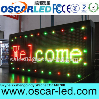 Wholesale p10 led messag sign,High resolution single color led sign,Factory Price led sign