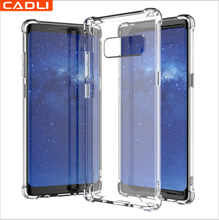 Anti Shock Crystal Clear Tpu Gel Transparent Phone Case For Samsung Galaxy Note8 S8