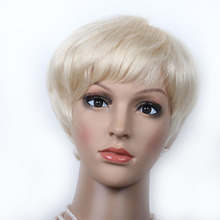 Premier Hair Free Shipping 100% Chinese Virgin Hair Short 613 Platinum Blonde Glueless Machine Made Wig