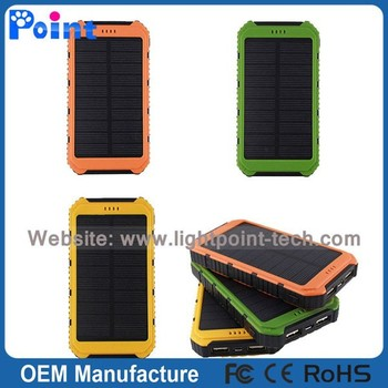 Best selling high quality solar power bank outdoor waterproof solar power bank