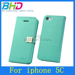 High quality For iphone 5c Leather Case cover with Buckle