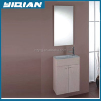Glass wash basin Slim bath vanity furniture wall french vanity cabinets with doors