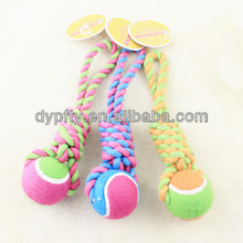 rope tennis ball toys for training dogs