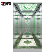 Elevator etched stainless steel door design and Cabin decoration