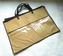 OEM Customized clear pvc non woven zipper bag for pillow