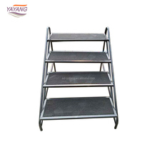 Cheap Price Movable ,Metal Folding Portable Work Platform Stage 2/3/4 Step Ladder