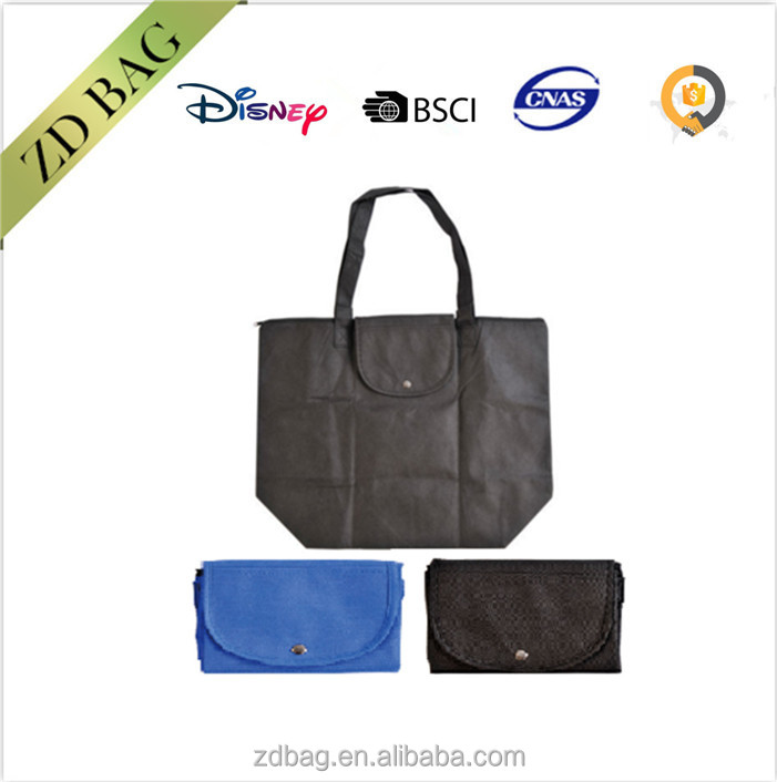 Economical 80g Non Woven Foldable Zippered Tote Bag