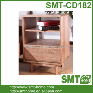 Modern Simple Solid Pine Bedside Table Bedroom Furniture Design For Japan