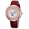 Luxury diamond watch with leather strap watch for ladies