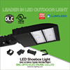 DLC Approved Led commercial lighting parking lot light shoebox 150W