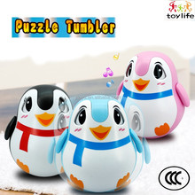 high quality plastic children lovely cartoon animal tumbler toy with sound