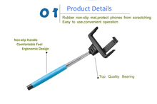 Extendable Self-portrait Wireless Monopod Pole with Mount