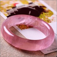 High quality grade A pink jade chalcedony bangle/bracelet for wholesale