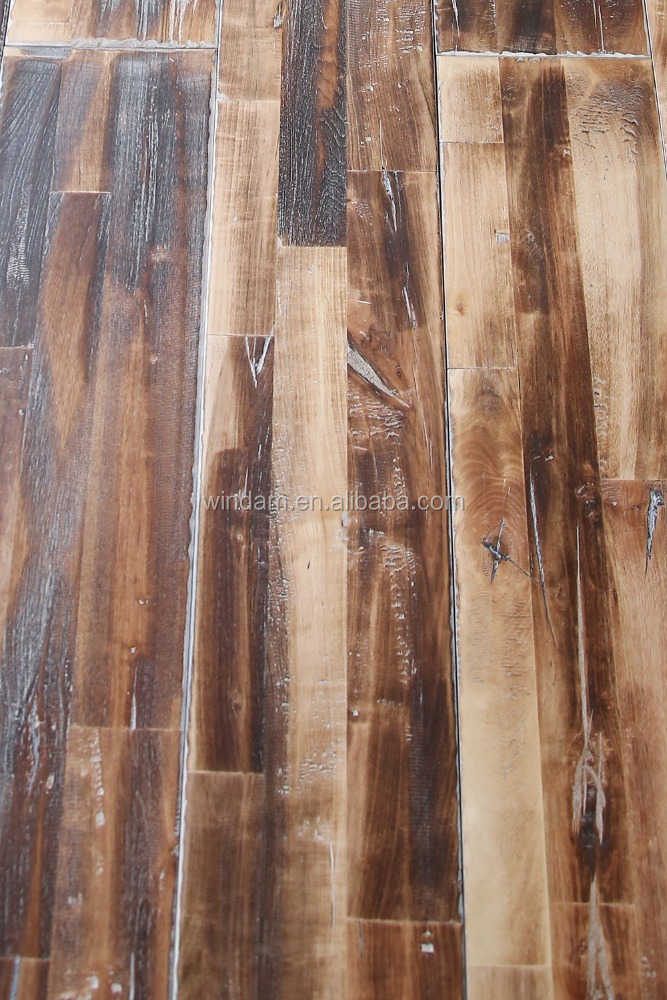 3-strip finger jointed Rustic Antique Finish solid Oak Wood Timber Flooring