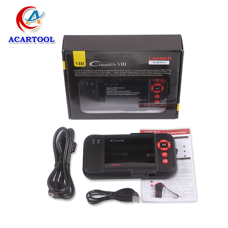 2015 Top-Rated 100% Original Launch X431 Creader 8 Creader VIII and CResetter Oil Lamp Reset tool