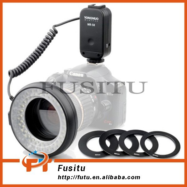 YONGNUO MR-58 Macro Ring Flash LED light for Canon Nikon Olympus Contax