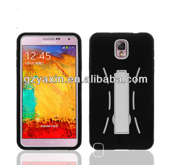 Protective case for samsung galaxy note 3,Robot combo pc silicon shockproof case for samsung galaxy note 3