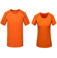 custom plain orange color dri fit running t-shirts compression high qulaity striped t shirt athletic women slim fit tee shirts