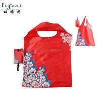 Reusable Foldable Shopping Bag, Custom Design Tote Bag,Polyester Shooper Bag