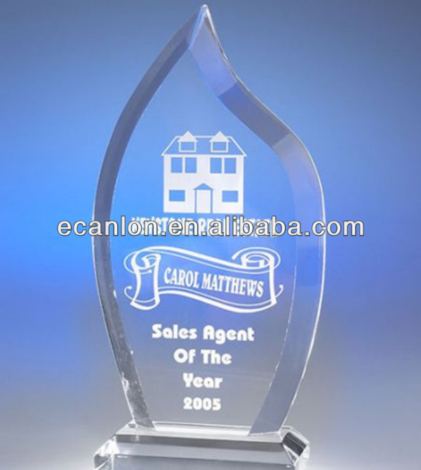 Custom shaped acrylic trophies and awards, models acrylic trophy