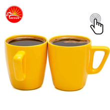 Hot Selling Yollow Color Ceramic Promotional Coffee Mug Two Tone Cerramic Lipton Tea Mug