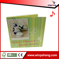 Handmade mothers day music greeting cards with midi sound module