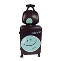 Smile Pattern ABS PC Suitcases Luggage With Cosmetic Case Bag