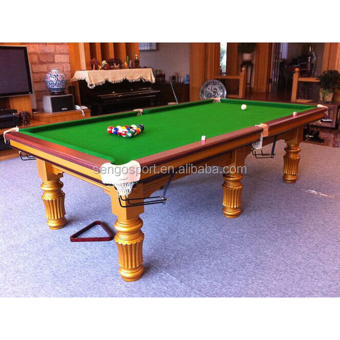 2017 the best selling Solid Wood Golden leg high quality billiard pool snooker games table