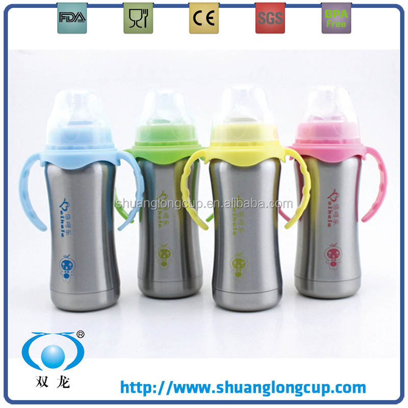 180ml (6oz) Eco-friendly BPA free Stainless Steel Baby Feeding Bottle