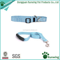 Hign end blue nylon customized dog collars