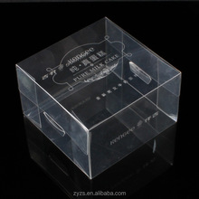 Custom print small hard clear plastic cupcake boxes packaging