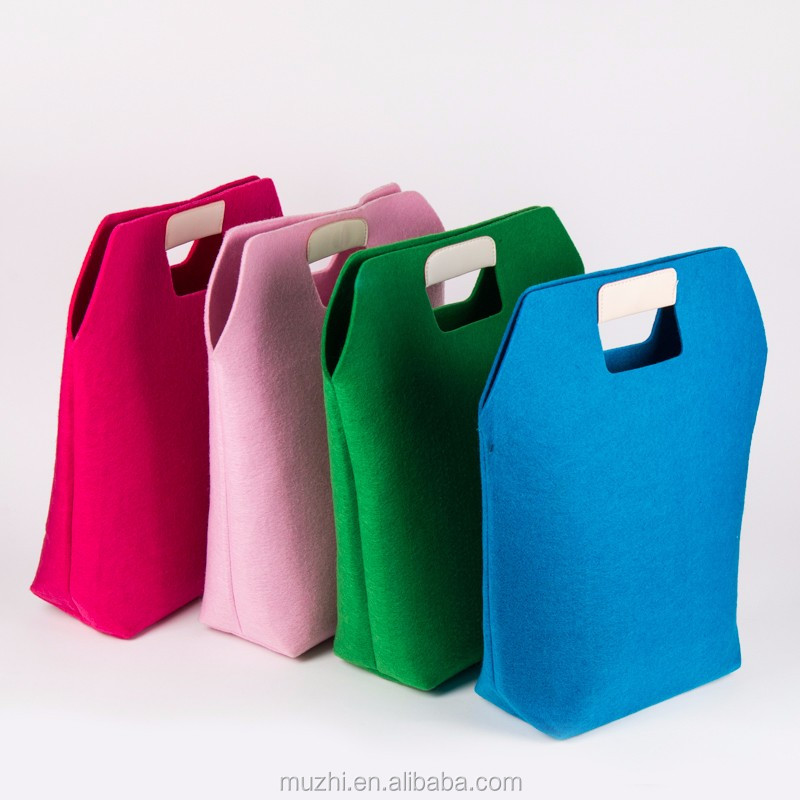 Wholesale Fashion Colored Custom Felt Tote Bag for Ladies