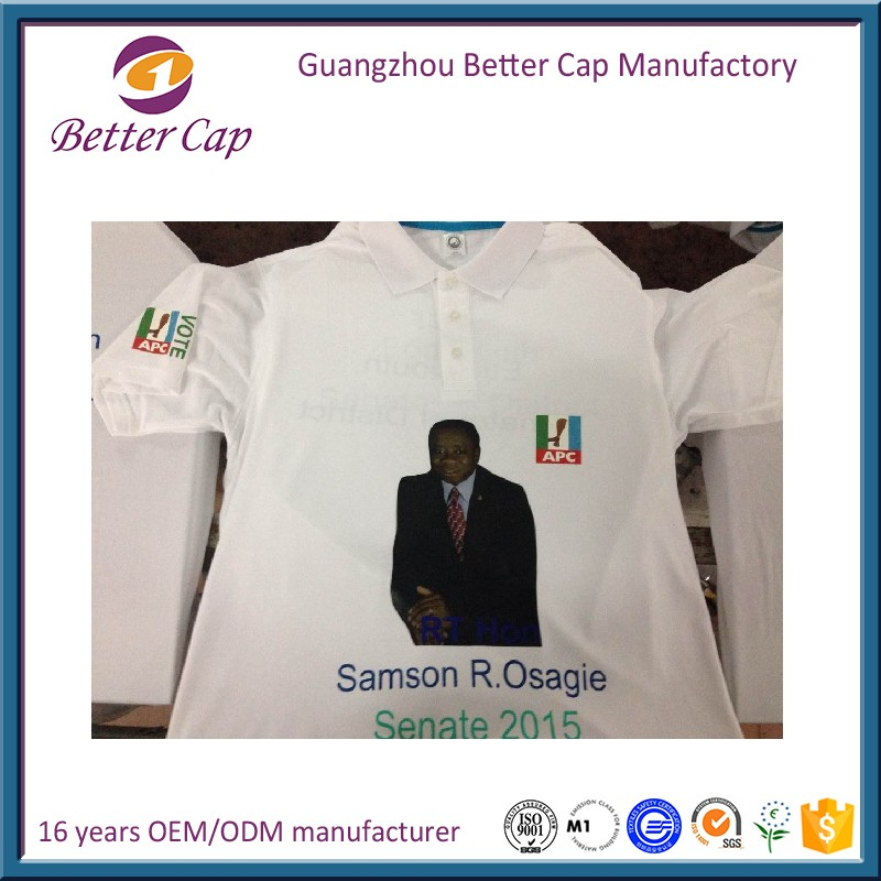 cheap price 100% polyester Nigeria election T shirt