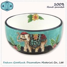 Glazing Hand Painted Pottery Blue Color 2015 2016 Soup Bowl Meaning