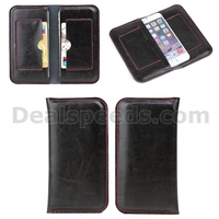 Dual Phones Notebook Style Genuine Leather Case for 4.7 inch phone with Card Slot