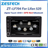 Auto radios for Lifan 520 car dvd gps navigation system and in dash car entertainment Bluetooth TV MP3/4/5 AUX music