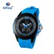 Silicone Band Alloy Analog Digital LED Sport Wristwatch with Japan Movement Waterproof Quartz