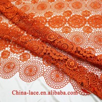 2015new design orange african lace fabric