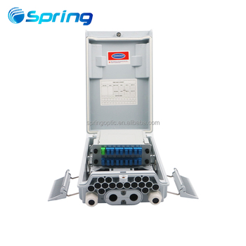 GFS-16W 16 core fiber optic distribution box/terminal box with 1:16 SC/APC LGX PLC splitter