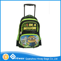 2016 New Product Medium Kids School Trolley Backpack Bag with Wheels