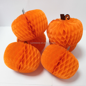 Tissue paper honeycomb pumpkin for 2015 Halloween Decoration items
