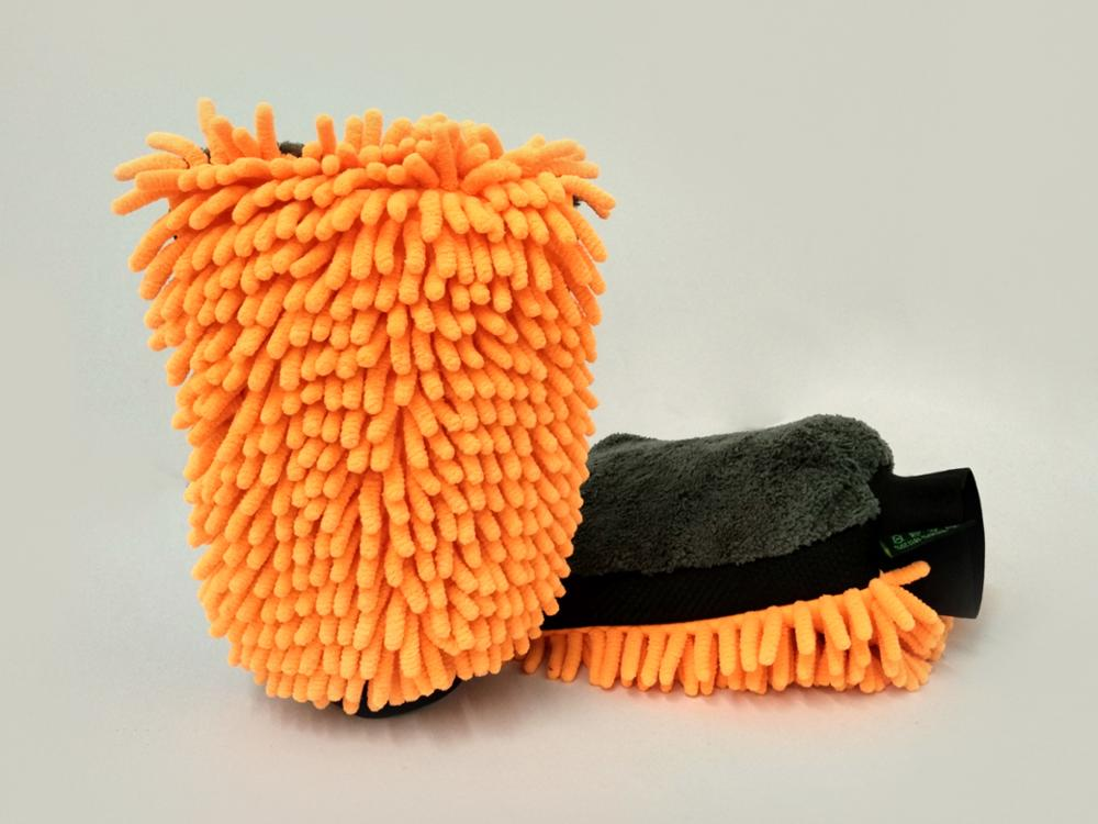 Super soft microfiber cleaning car wash mitt