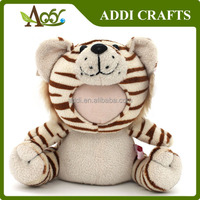 3D Face Plush Photo Frame Funny Plush Tiger Toy