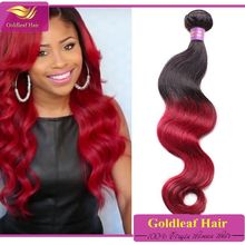 Amazing Brazilian hair extensions weft red color Body wave 3 bundles red Brazilian hair weave